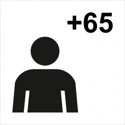 Nuevo símbolo gráfico de personas mayores