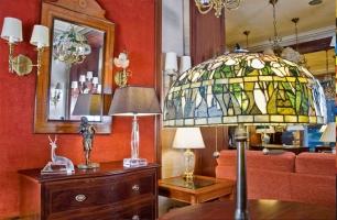 Lámparas antiguas y modernas en Barcelona