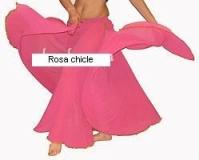 Falda lisa gasa danza del vientre