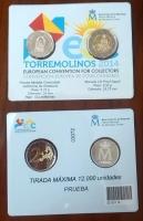Set moneda 2 Proof Gaudi y Prueba Medalla comunidad Autonoma de Andalucia