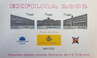 PRUEBA OFICIAL DE ARTISTA 2002 EXFILNA SALAMANCA