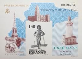 PRUEBA OFICIAL DE ARTISTA 1995 EXFINA 95 MALAGA
