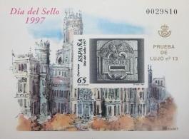 PRUEBA DE LUJO 13 DIA DEL SELLO 1997