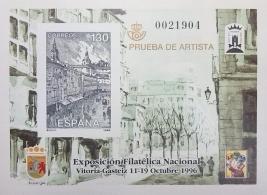PRUEBA OFICIAL DE ARTISTA 1996 EXFILNA 96 VITORIA...