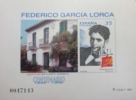 PRUEBA OFICIAL DE COLOR 1998 FEDERICO GARCIA LORCA