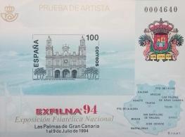 PRUEBA OFICIAL DE ARTISTA 1994 EXFILNA LAS PALMAS...