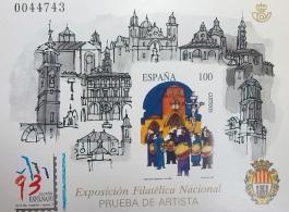 PRUEBA OFICIAL DE ARTISTA 1993 EXFILNA 93 ALCAÑIZ