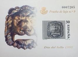 PRUEBA DE LUJO 9 DIA DEL SELLO 1995