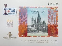 PRUEBA OFICIAL DE ARTISTA 1998 EXFILNA 98...