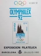 PRUEBA OFICIAL DE COLOR 1992 OLYMPHILEX 92...