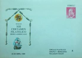 XIII CERTAMEN FILATELICO IBERO AMERICANO 1989