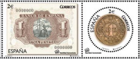 R114 99X41 Diptico de la peseta 2014. Moneda...