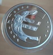 Imagen del símbolo del euro con el mino tauro. 40mm