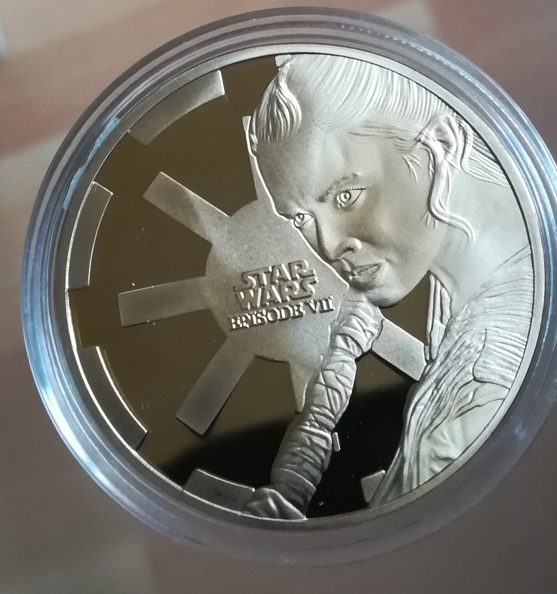 Moneda-medalla Star wars.