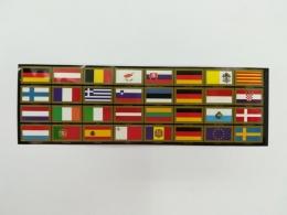 Juego de Etiquetas Adhesivas. 32 Banderas de...