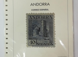HOJAS DE SELLOS DE ANDORRA