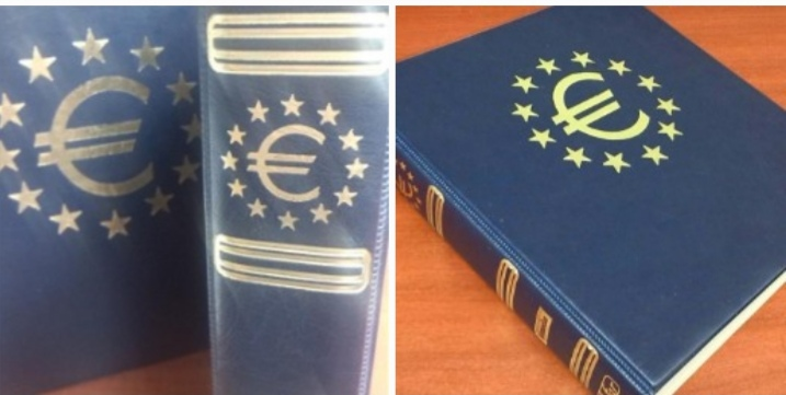Álbum de Euros Lujo Azul
