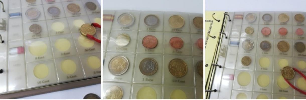 Hojas de euros de 3 transparente