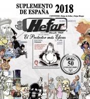 Hojas de sellos España 2018 de Hefar.