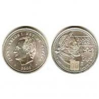 Moneda de 2000 pesetas de plata del año 2000