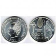Moneda de 2000 pesetas de plata del año 1999
