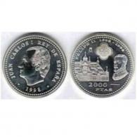 Moneda de 2000 pesetas de plata del año 1998