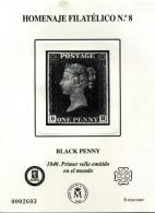 Homenaje Filatélico Nº 8. Año 2012 Black Penny. Iº...