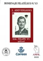 Homenaje Filatélico Nº 13 Año 2013. L Aniversario....