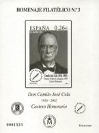 Homenaje Filatélico Nº 3 Año 2007 Don Camilo José...