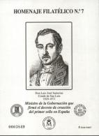 Homenaje Filatélico Nº 7. Año 2011 Don Luis José...