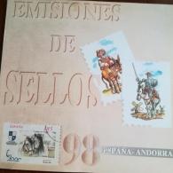 Libro de sellos de correos del año 1998