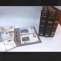 Álbum con título FDC Clasic, con hojas.