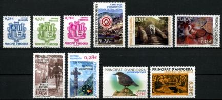 Sellos de Andorra 2005
