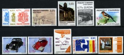 Sellos de Andorra 2004
