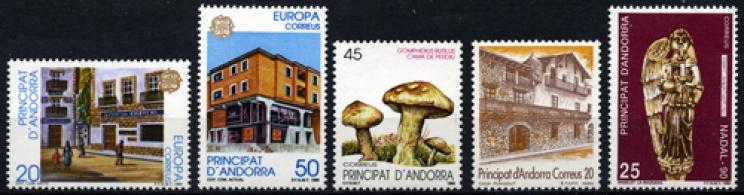 Sellos de Andorra 1990
