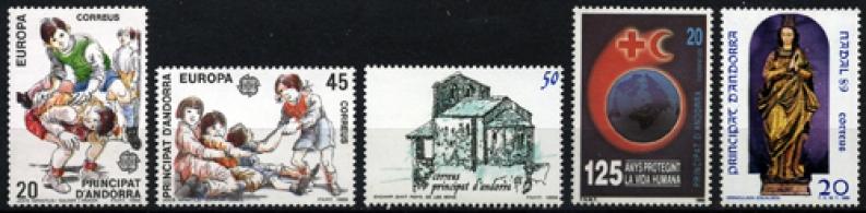 Sellos de Andorra 1989