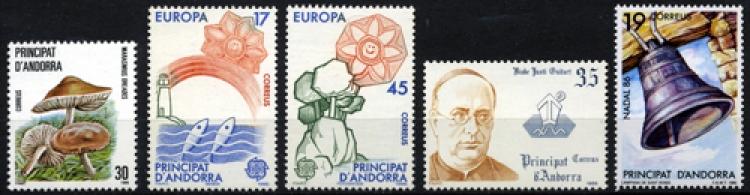 Sellos de Andorra 1986