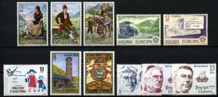 Sellos de Andorra 1979