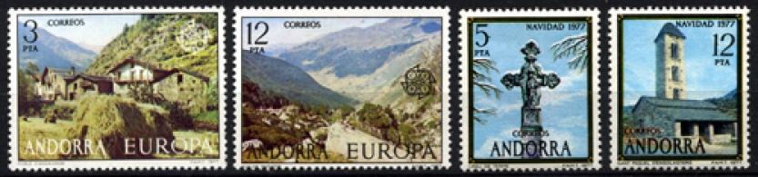 Sellos de Andorra 1977