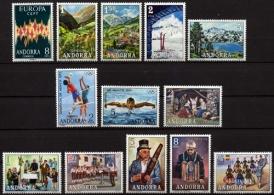 Sellos de Andorra 1972