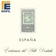 Hojas EDIFIL España Centenario Sello dentado...