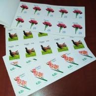 160X86 HOJA DE 10 sellos CARNET DE FLORA, FAUNA.