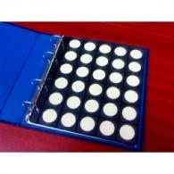 Hoja de monedas 30 huecos. 25mm (Especial 1 Euro)
