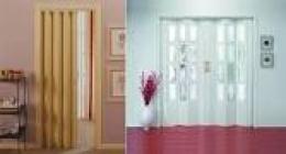 Puertas plegables lisas y en imitaciones madera