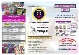 """""""V CLUB DE VERANO"""" 2017"""
