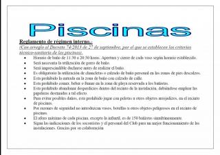 APERTURA DE PISCINAS DE VERANO