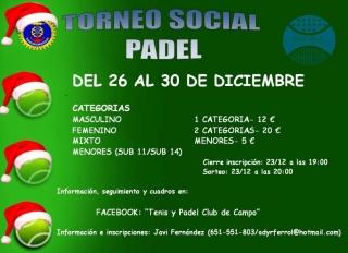 TORNEO SOCIAL DE NAVIDAD