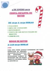 FIESTA INFANTIL Y BINGO SOCIAL DE REYES