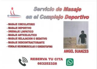 SERVICIO DE MASAJE