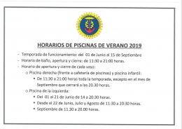 APERTURA PISCINAS 2019